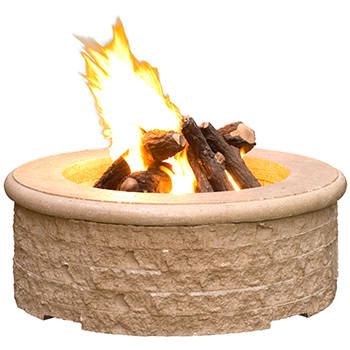 chiseled gas fire pit